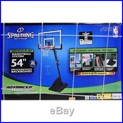 Basketball Backboard 54 Portable Clear Net Goal Adjustable Hoop Outdoor Play