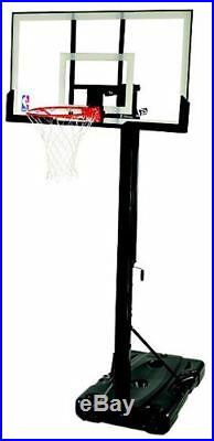 Basketball Goal Backboard Portable System Adjustable Hoop Net Pole 54 7.5-10