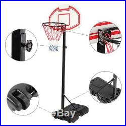 Basketball Hoop Adjustable Backboard Rim System Mini Portable In/Outdoor 6.7Ft