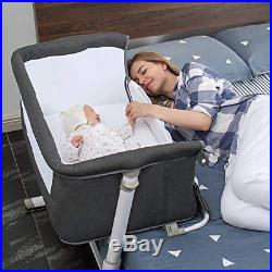 Bedside Sleeper Baby Bed to Bed Babies Crib Bed Adjustable Portable Bed for I