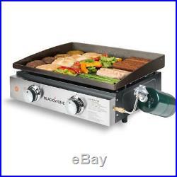 Blackstone Griddle Grill 22 in. 2 Burner Propane Portable Adjustable Feet Cover