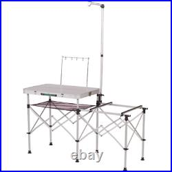 Camp Kitchen Organizer Folding Portable Outdoor Food Prep Table Camping Storage