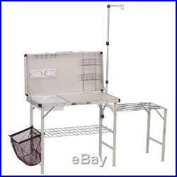 Camping Kitchen Portable Coleman Pack-Away Outdoor Deluxe Sink Table Counter