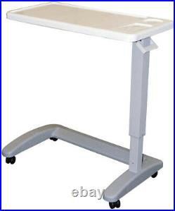 Carex Overbed Table With Swivel Hospital Bed Table Adjustable Height C-Shaped
