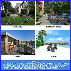Case Of 2 Navy Zero Gravity Chairs Patio Yard Lounge Beach Outdoor Folding Chair