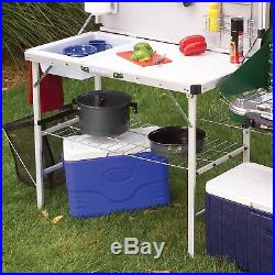 Coleman Portable Kitchen Camping Cooking Station Picnic Outdoor Pack-Away Space