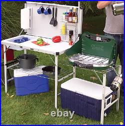 Coleman Portable Set Camping Cooking Pack Away Deluxe Outdoor Kitchen Table