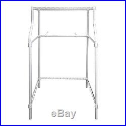 Compact Laundry Stand Portable Storage Dryer Washer Adjustable Leveling Legs
