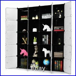 DIY 20 Cube Portable Closet Storage Organizer Clothes Wardrobe Cabinet WithDoors