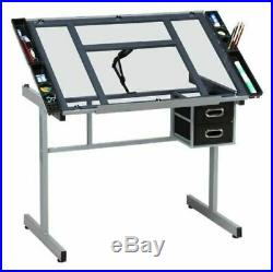 Drafting Table Adjustable Portable Drawing Desk Office Architect Art Craft Hobby