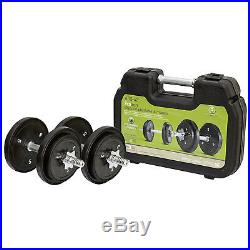 Dumbbell Weight Lift Set 40 LBS Adjustable Workout Fitness Gym Portable Strength