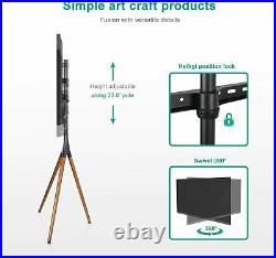 EleTab Artistic Easel 45 to 65 Screen TV Tripod Height Adjustable Floor Stand