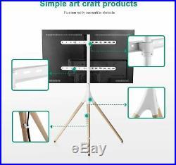 EleTab Tripod TV Display 45- 65 Portable Floor Stand Height Adjustable White