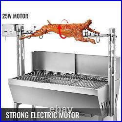 Electric BBQ Spit Roaster Hog Roast Machine 132LBS 25W Rotisserie Grill Roasting