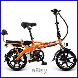 Electric Folding Bike E-bike Bicycle Safe Adjustable Portable For Cycling, 350w