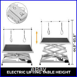 Electric Lifting Pet Dog Grooming Table 440Lbs Shower 6000N linear Large Pet