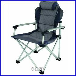Eurotrail Foldable Portable Camping Caravan Garden Chair Padded Seat Backpart