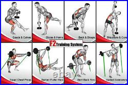 F2 IsoResistance Portable Gym for Isometric Bar and Bands (PLATFORM ONLY)