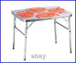 Folding Camping Table Lightweight Portable Outdoor Aluminium Frame Caravan 75cm