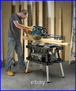 Folding Work Bench Table Sawhorse Clamps Multi-Purpose Garage Tools Portable USA