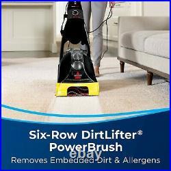 Full-Size Carpet Cleaner Washer Shampooer Vacuum Upright WithPower Brush Black