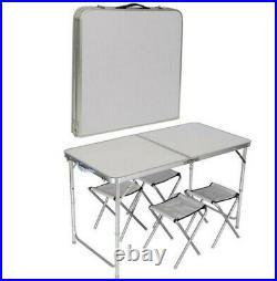 Garden Outdoor/Indoor Picnic Camping Folding Portable Four Chair Table Set