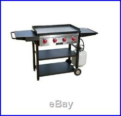 Gas Grill Flat Top Grill Propane Outdoor Cooking Adjustable Griddle 4 Burner