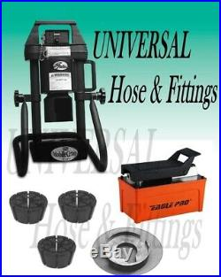 Gates Hydraulic Hose Crimper 4-20, 3 Dies, Air Pump, Portable, Adjustable