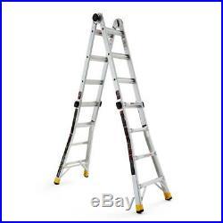 Gorilla Ladders 18 ft Lightweight Aluminum Multi-Position Ladder 300 lb Capacity