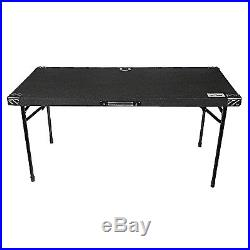Grundorf AT5422B Portable Adjustable DJ Event Table Black