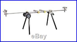 Heavy Duty Mobile Rolling Portable Folding Adjustable Miter Saw Tool Table Stand