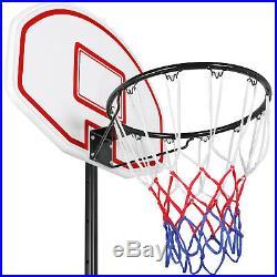 Height-Adjustable Basketball Hoop System Portable Basketball Goal Outdoor Kids