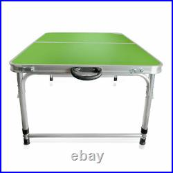 Height Adjustable Folding Table Aluminum Portable Camp Picnic Party Dining Table