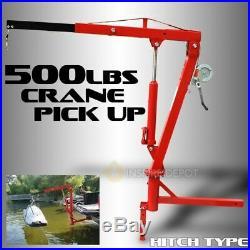 Hydraulic Receiver Hitch Mounted Crane Portable Pickup Truck Lift Adjustable Leg