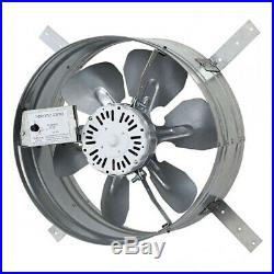 ILiving Automatic Gable Mount Attic 3.1A Ventilator Fan with Adjustable Thermostat