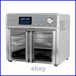 KALORIK Stainless Steel Maxx Air Fryer Oven Auto Shut-Off Built-In Timer 26 Qt