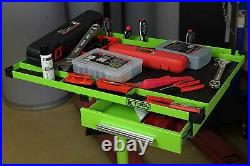 K Tool International 79701 Portable Adjustable 30 Green Tray and Work Table