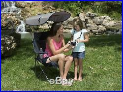 Kelsyus Premium Portable Camping Folding Lawn Chair with Canopy (3 Pack)