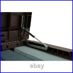 Keter 165 Gallon Outdoor Patio Storage Deck Box Bench Weatherproof Resin