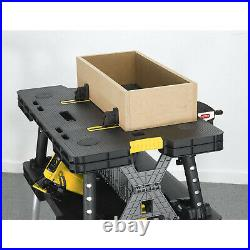 Keter Folding Portable Workbench Sawhorse COMES WITH 2 CLAMPS Worktable 197283