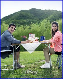 KingCamp Bamboo Roll up Camping Table S M L Portable Height Adjustable Anti-UV