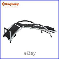 Kingcamp Adjustable Chaise Lounge Chair Recliner Outdoor Folding Chaise Loungers
