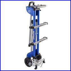 Kobalt Adjustable Mobility Miter Saw Portable Rolling Steel Stand 400LB Capacity