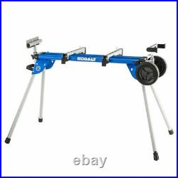 Kobalt Steel Saw Miter Stand Adjustable Telescoping Rolling supports 400 lbs NEW