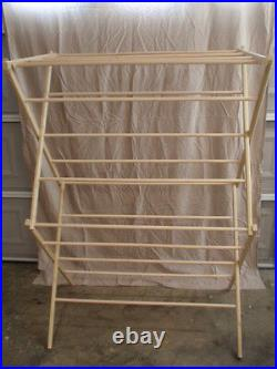 Large Clothes Drying Rack 50 Feet of Drying Space Large Wooden Clothes Rack