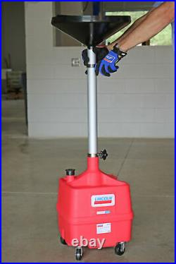 Lincoln 3508 Portable Plastic Fluid Waste Drain with 36-65 Adjustable Funnel