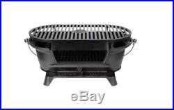 Lodge Heavy Duty Cast Iron Grill BBQ Portable Camping Hunt Adjustable Tabletop S