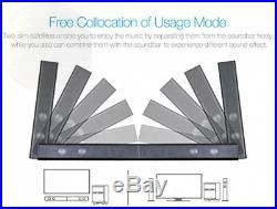 LuguLake TV Sound bar Speaker System with Subwoofer, Bluetooth, Adjustable