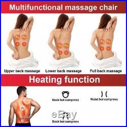 Massage Chair Shiatsu Kneading Folding Portable Adjustable Seat Vibration Home