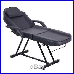Massage Table Adjustable Beauty Salon Chair Therapy SPA Bed Facial Tattoo Black